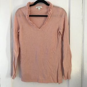 Blush Rose Cashmere & Wool Blend Sweater